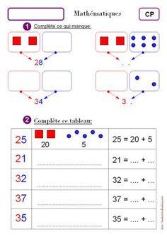 Dizaines et unités CP - Zaubette