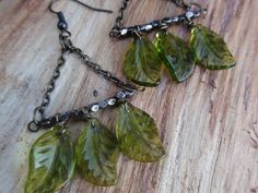 leaves of green by jeweldesignsbyred on Etsy, $16.00