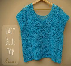 Lanas de Ana: Blue Lacy Top