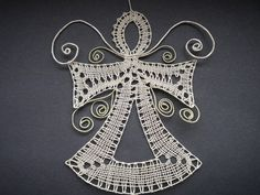 Doily Art, Types Of Lace, Bobbin Lace Patterns, Lacemaking, Lace Heart, Lace Jewelry, Lace Design, Christmas Angels, Irish Crochet