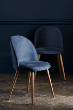 Buy Set Of 2 Zola Dining Chairs from the Next UK online shop Blue Dinning Room, Navy Dining Chairs, Leather Dining Room Chairs, Upholstered Dining Chairs, Dining Room Design, Dining Chair Set, Walnut Dining Chairs, Fabric Dining Chairs, Dining Table
