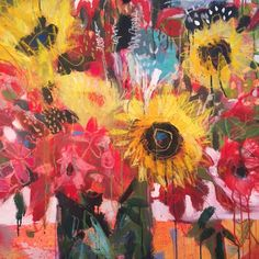 Big Bold Blooms Wild Painting — Lynn Whipple