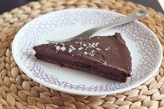 Salted Chocolate Tart – Gluten-free, Grain-free + Vegan