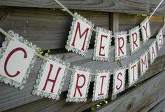 Homemade Garland Ideas | Personalized Homemade Garland Christmas Banners ideas | Christmas
