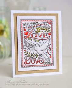 My Joyful Moments: Sending Love with Pink Ink Stamps