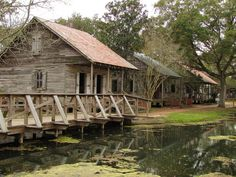 Acadian Village, Lafayette, Louisiana. This is a historical site, nothing touched and nothing reconstructed. Usually for Christmas every year they do a beautiful light display throughout the entire village and you walk through, buy food & drink, dance to Cajun music and eat old fashioned popcorn. photo by Hallock35, via Flickr