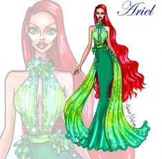 Ariel #Disney #HauteCouture by ARMAND MEHIDRI| Be Inspirational ❥|Mz. Manerz: Being well dressed is a beautiful form of confidence, happiness & politeness