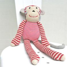 and the little dog laughed - hand knitted 'sam' monkey