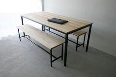 Atelier table & Frame long bench