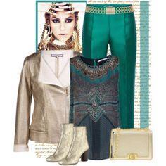 Xandres xline Plus size golden coated `perfecto` jacket