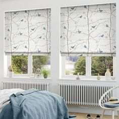 Dawn Chorus Mineral Blue Roman Blind from Blinds 2go