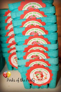 10-Strawberry Shortcake Party Favors birthday by PerksoftheParty