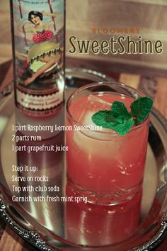 SweetShine, Cocktail, Garden to Glass, Moonshine, Mixology, Bloomery Plantation Distillery