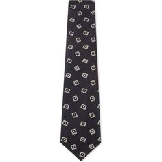 DRAKES Diamonds silk tie (173,435 KRW) ❤ liked on Polyvore featuring men's fashion, men's accessories, men's neckwear and ties