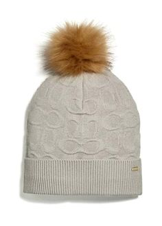 c91010a3dd95a COACH Unisex Embossed Signature Knit Beanie Hat Soft Wool Ice Light  Gray(F32713)  fashion  clothing  shoes  accessories  womensaccessories  hats  (ebay link)