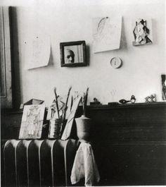 Pablo Picasso, Self-Portrait in the Studio Royan (1940)