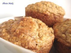 Muffin santé aux Bananes Banana Bread Muffins, Breakfast Muffins, Easy Desserts, Delicious Desserts, Yummy Food, Croissants, Brunch Recipes, Dessert Recipes, Desserts With Biscuits
