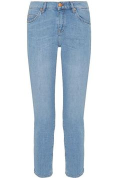 M.i.h Jeans' 'Tomboy' jeans are faded and lightly-whiskered for a love-worn feel. They sit low on your hips and are cut in a slim boyfriend silhouette. Mirror the brand's laid-back styling and team yours with a cozy sweater and slides.