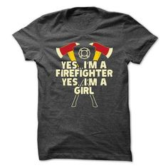 I am a firefighter I am a girl T Shirts, Hoodies Sweatshirts. Check price ==► https://www.sunfrog.com/LifeStyle/I-am-a-firefighter-I-am-a-girl.html?57074