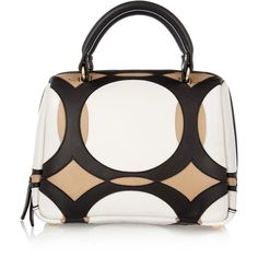 Marni Leather tote (3,420 CNY) ❤ liked on Polyvore featuring bags, handbags, tote bags, purses, borse, bolsos, white, leather hand bags, leather handbag tote and white leather tote