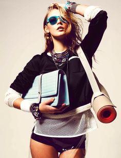 @debbietoo look at the style!!! Lucia Jonova by Danilo Giuliani for Grazia Germany March 2012