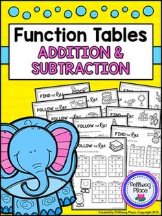 Function Tables: Addition and Subtraction (Input Output Boxes) ($)