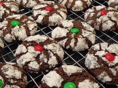 Christmas Chocolate Crinkles