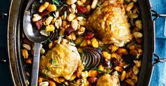 This recipe for one-pot chicken with cannellini beans and chorizo is really easy to make and requires minimal hands-on time. What's more, it comes in at under 300 calories, making it a great midweek meal.