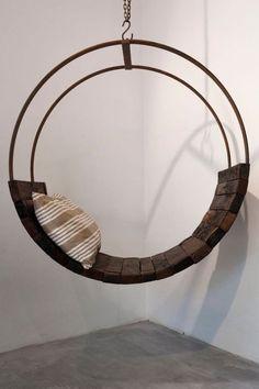 amaca in ferro e legno di design replica 100& italy artigiani locali