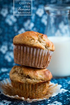 Gluten-Free Banana Muffins -   So good and moist! Could not even tell they were gluten free. Perfect with whipped coconut cream on top!