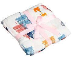 Fox Baby Swaddle, Woodland Swaddle, Muslin Swaddle Blanket, Newborn Swaddle, Baby Swaddle, Baby Gift, Baby Shower Gift