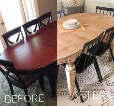 Raw Wood Furniture, Stripping Furniture, Diy Furniture Table, Refurbished Furniture, Paint Furniture, Repurposed Furniture, Furniture Projects, Diy Furniture Refinishing, Kitchen Furniture