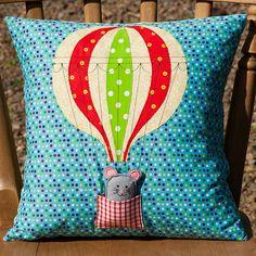 Hot Air balloon cushion cover  by bearpawandbearpaw, via Flickr