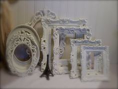 White Frame Collection  Shabby Chic by EdenCoveTreasures on Etsy, $92.00