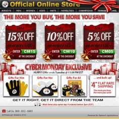 Pittsburgh Steelers - Cyber Monday