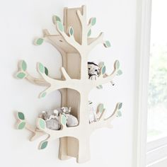 Woodland Tree Wall Shelf – Decorating Tips Baby Bedroom, Baby Boy Rooms, Baby Room Decor, Nursery Room, Girl Nursery, Girl Room, Baby Boy Nurseries, Nursery Wall Shelf, Baby Girls