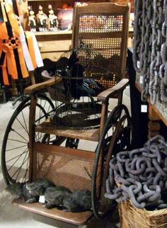 vintage wheelchair, for the abandoned hospital or haunted asylum effect #eerie #halloween