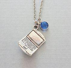 Laptop Necklace Computer Necklace Programmer by BelieveInGoodKarma