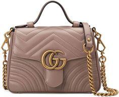 e39736707728aa Gucci GG Marmont mini top handle bag Gucci Handbags Outlet, Chanel Handbags,  Burberry Handbags