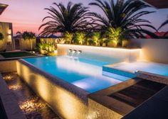 City Beach, Beach Pool, Pool Spa, Geometric Pool, Spa Interior, Infinity Edge Pool, River Stones, Beautiful Pools, Tile Installation
