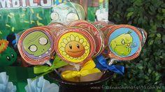 Pirulito Festa Infantil Plants vs Zombies