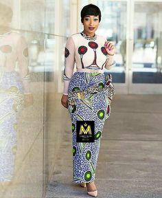 latest ankara styles plain mixmatch long pencil dress