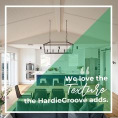 Bathrooms, bedrooms, laundries, kitchens - HardieGroove Lining creates timeless feature walls in any home Contemporary Architecture, Architecture Design, Feature Walls, Home Photo, Home Decor Styles, Cladding, Home Renovation, Wood Wall, Interior Inspiration