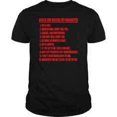 I Love Rules For Dating My Daughter Red  Black T shirt Mens Premium T Shirt Shirts & Tees