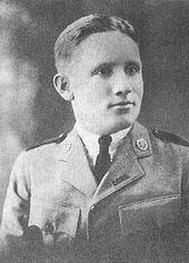 Spencer Tracy - Northwestern Military and Naval Academy, 1919, age 19