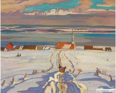 Painting Canada: Tom Thomson and the Group of Seven     A.Y. Jackson, Winter, Quebec, 1926, Oil on canvas, 53.8 x 66.5 cm, National Gallery of Canada, Ottawa, Vincent Massey Bequest, 1968, Courtesy of Carleton University Art Gallery, Ottawa, Ontario