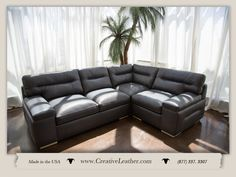 For three decades, Creative Leather has been committed to handcrafting the finest quality custom leather furniture in the Southwest. Leather Furniture, Custom Furniture, Sofa, Couch, Beautiful Lines, Custom Leather, Chair And Ottoman, Monaco, Love Seat