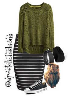 """Apostolic Fashions #1844"" by apostolicfashions on Polyvore featuring H&M, Converse and Forever 21"