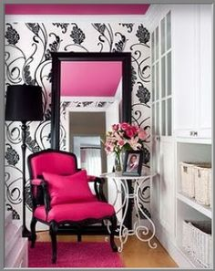 black, white, and pink