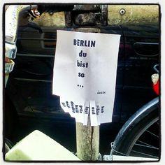 Berlin du bist so...
